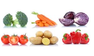 西兰花胡萝卜与番茄等摄影高清图片