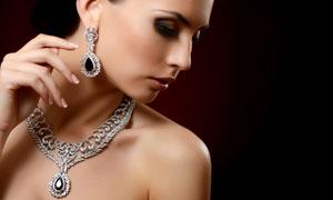 项链首饰展示服饰模特美女高清图片