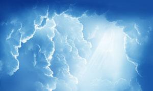 云层中的耀眼阳光风景摄影高清图片