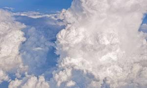万米高空中的云层风光摄影高清图片