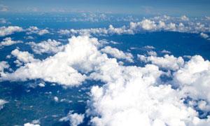 高空视角鸟瞰白云风景摄影高清图片