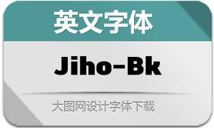 Jiho-Black(英文字体)