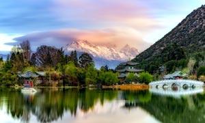 玉龙山水美景高清摄影图片