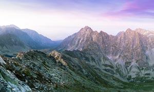山顶唯美风光摄影图片