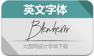 BlenheimSignature(英文字体)