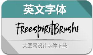FreespiritBrush1(英文字体)