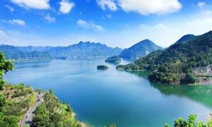 长潭水库千岛湖风光美景摄影图片