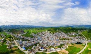 金钗小镇全景图摄影图片