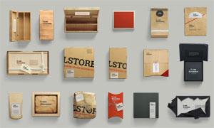 木质与纸质的包装盒贴图模板源文件