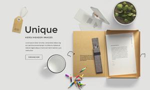 铅笔文件夹等元素网页适用分层素材