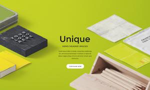 铅笔盒与立体字等贴图创意分层模板