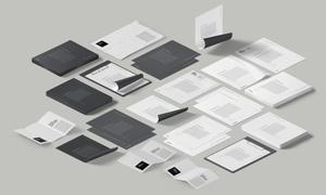 不同尺寸规格的纸张等贴图分层模板