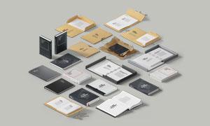 文件夹与书籍装帧效果贴图分层模板