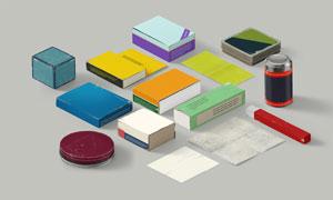 多种纸盒包装效果应用展示贴图模板