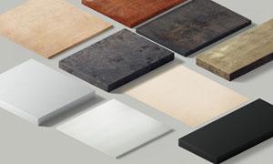 侧视角度不同厚度材质的纹理板素材