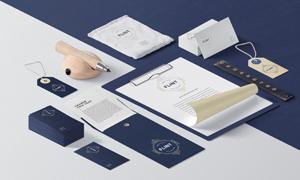 名片纸张与吊牌信封等贴图模板文件