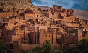 摩洛哥哈杜筑垒村风光摄影高清图片