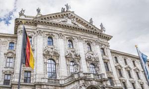德国慕尼黑正义宫建筑摄影高清图片