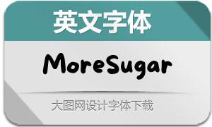 MoreSugar系列三款英文字体