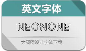 NeonOne(虚线空心英文字体)