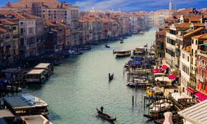 水城威尼斯建筑物风光摄影高清图片