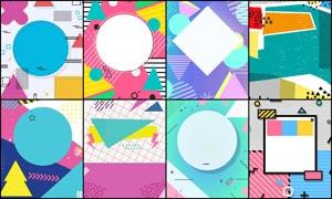 创意的彩色图形背景集合PSD源文件