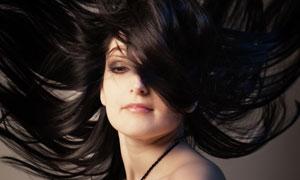 抹胸装扮黑发美女人物摄影高清图片