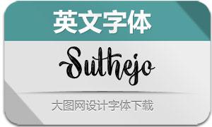 Suthejo系列四款英文字体