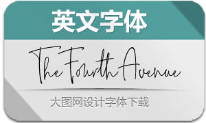 TheFourthAvenue系列三款字体