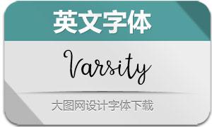 Varsity(手写风英文字体)