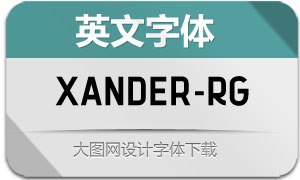 Xander-Regular(英文字体)