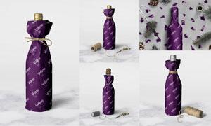 酒瓶瓶身包装用纸文字图案贴图模板