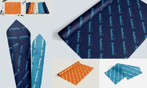 包装纸上的文字图案贴图模板集V03