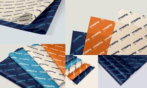 包装纸上的文字图案贴图模板集V04