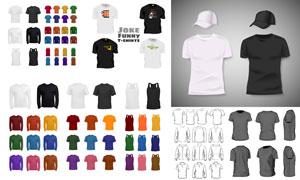 多款T恤主题服装设计创意矢量素材