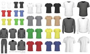多款短袖与卫衣等服饰设计矢量素材
