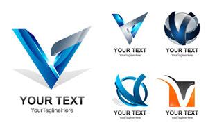 立体效果字母演绎标志创意矢量素材