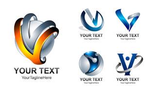 光效质感字母变形元素创意矢量素材