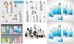 多种护肤用品包装设计创意矢量素材