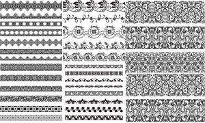 无缝连续拼接花纹装饰矢量素材V02