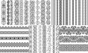 无缝连续拼接花纹装饰矢量素材V03