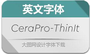 CeraPro-ThinItalic(英文字体)