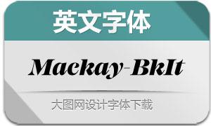 Mackay-BlackItalic(英文字体)
