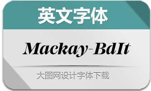 Mackay-BoldItalic(英文字体)