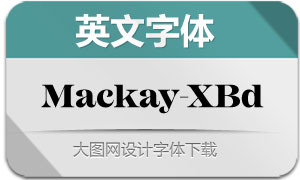 Mackay-ExtraBold(英文字体)
