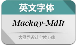 Mackay-MediumItalic(英文字体)