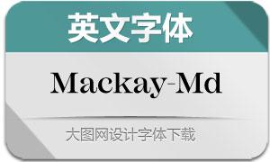 Mackay-Medium(英文字体)