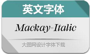 Mackay-RegularItalic(英文字体)