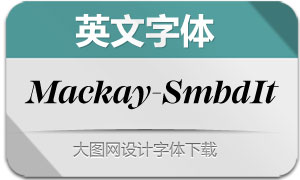 Mackay-SemiBoldIt(英文字体)