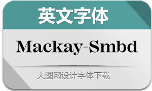 Mackay-SemiBold(英文字体)